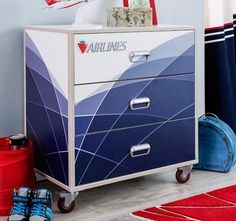 Cilek This First Class Airplane 3 Drawer Chest will enhance any crew member's room with ample drawer space storage. 9 Drawer Dresser, 3 Drawer Chest, Dresser With Mirror, Chest Of Drawers, Nursery Furniture, Wood Furniture, Kids Dressers, Kids Bookcase, Delta Children