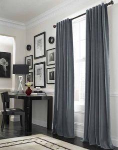 resultado de imagen para living comedor decoracin cortinas grises