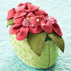 Wool Pincushions Try your hand at beading with these three quick-to-make pincushion projects.