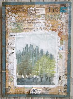 Mixed media collage by Art in Red Wagons via Etsy