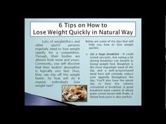 Wynn Group - 6 Tips on How to Loss Weight Quickly in a Natural Way