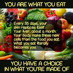 You Are What You Eat!!!!
