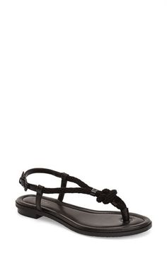 MICHAEL MICHAEL KORS 'Holly' Leather Thong Sandal (Women). #michaelmichaelkors #shoes #sandals
