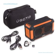 Veho Vecto Wireless Water Resistant Speaker Orange - Bezdrôtový reproduktor VECTO v prémiovom oranžovom prevedení od Veho bol navrhnutý pre outdoorový životný štýl. Vďaka svojej robustnej konštrukcii a vodeodolnom prevedení je reproduktor VECTO dokonalým spoločníkom pre kempovanie, festivaly, trekking, plachtenie, na pláž, pikniky alebo leňošenie pri bazéne. 6000mAh powerbanka nabije smartfón až 4x. Má tiež integrovaný mikrofón a microSD slot pre priame prehrávanie MP3.