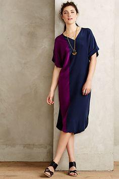 Anthropologie EU Midnight Violet Dress