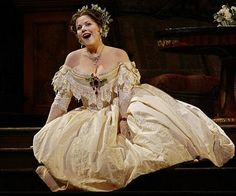 Renee Fleming as Violetta Valery in a scene from the opera La Traviata