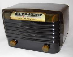 https://flic.kr/p/JnjsH2 | Vintage Bendix Catalin Plastic Table Radio, Model 526C, AM Band Only, 5 Tubes, Made In USA, Circa 1946