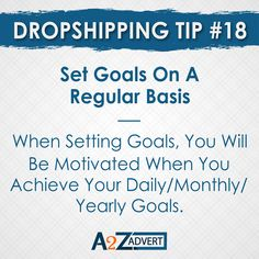 Set goals on a regular basis to achieve something better. When setting goals, You will be motivated when you achieve your daily/monthly/yearly goals. Agreed or not!!?? DM us to start your online dropshipping business. #droppingsoon #dropshipping #onlinebusiness #dropnshop #foryou #oberloapp #setgoals #setgoalsnotlimits #achivegoals #achievement For more details visit. www.atozadvert.com Drop Shipping Business, Digital Marketing Services, Yearly, Setting Goals, Online Business, Seo, Web Design, Branding, Writing