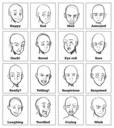 expressions face draw - Buscar con Google