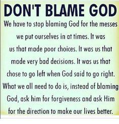Image result for stop blaming God