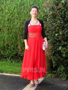 témoignage client de robe de soirée rouge longue avec bretelle fine Client, Green Party Dress, Dress Red, Suspenders, Women