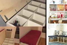 30 SOLUZIONI PER USARE GLI SCAFFALI DELL'IKEA! DA NON PERDERE!!! Kallax, Living Room Corner Decor, Ikea Hack Storage, Studio Bed, Kids Room Design, Home Staging, Diy Home Decor, New Homes, Interior Design