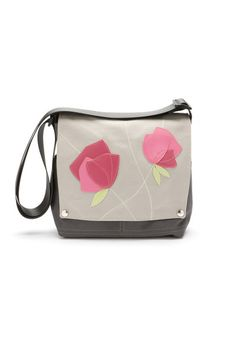 Canvas Truckette Bag -  Rose  - by Queen Bee. Handcrafted in Portland 87b8137aeddc5