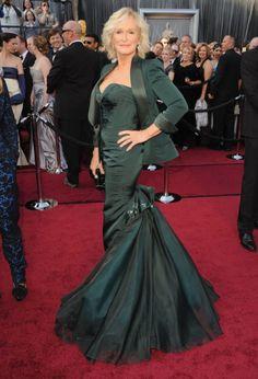 Glenn Close (The boss!) Oscars 2012 red carpet