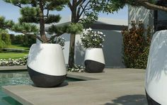 Public area planter ORCA by Lisa Pappon Bull and Stein
