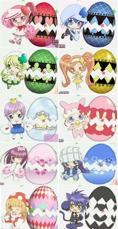 Ran, Miki, Su, Dia, Kiseki, Pepe, Temari, Rhythm, Kusukusu and Yoru