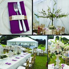 a nice combination for a garden style wedding