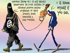 Endorse TRUMP or I'll get Hillary handover yr love letters to Stevens Jealous LIBYAN Boyfriend to Trey Gowdy, Rush Limbaugh & Ann Coulter. I'll hang myself if you did. – SUICIDE BOMBERS MAGAZINE