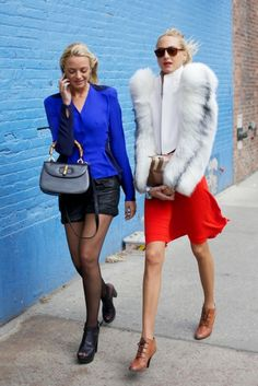 Virginie and Claire, in Thierry Mugler F11, Courtin-Clarins