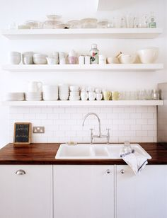 love the wood counter top. But would tihs conflict with hardwood foors? - SPL // Gorgeous kitchen