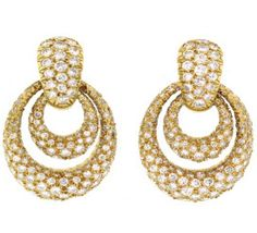 Van Cleef & Arpels Diamond Doorknocker Earrings