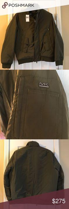 Michael Kors Army Green Bomber Men's. NWT Michael Kors Jackets & Coats Military & Field