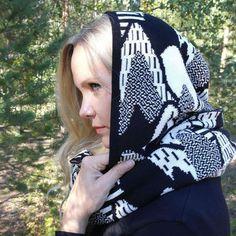 Uhana design hood scarf