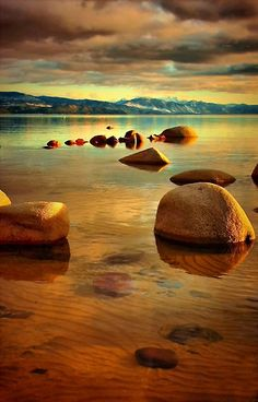 ~~Tahoe Zen ~ Lake Tahoe, California by Barbara  Brown~~