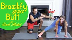 Brazilify Your BUTT with Natalie Jill & Brett Hoebel (Trainer-The Biggest Loser) Fitness Blogs, Fitness Motivation, How To Get Abs, Best Abs, Thigh Exercises, Easy Workouts, Summer Workouts, Love Handles, Butt Workout