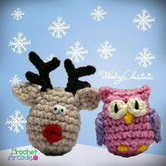 Christmas Ornaments Owl and Reindeer   Craftsy