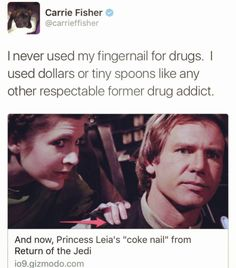 hamandcheezy:Carrie Fisher is a gift humanity doesnt deserve