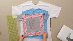 Looking for a fun new sewing project? Make your own DIY t-shirt quilt. Our video tutorial and written instructions show you How to Make a T-Shirt Quilt. This will definitely be everything you could want for your old band charity work or school shirts. Nine Patch, Quilting For Beginners, Quilting Tips, Beginner Quilting, Quilting Projects, Crochet Blanket Patterns, Quilt Patterns, Afghan Crochet, Crochet Blankets