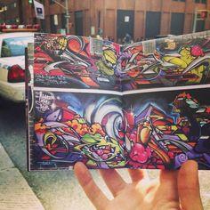 #MonsterStyleKlub @TenderJ #POSE x #NYC   From #FRANK151 #Chapter41 @TheSeventhLetter #AWR #MSK #7thLetter   Get your copy at frank151.com/book   #graffiti #graff #bomb #art #streetart #spray #spraypaint #color #colors