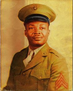 Alfred Masters (b.1916 - d.1975) was the first African American in the United States Marines, receiving his swearing-in on June 1, 1942, at 12:01 am in Oklahoma City. His first training camp was Montford Point in North Carolina. Masters rose to the rank of Technical Sergeant. His wife was five-time U.S. presidential candidate Isabell Masters.
