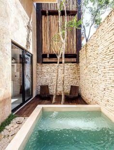 Gallery of Tribu Apartments / Arista Cero - 5 Design Patio, Backyard Pool Designs, Small Backyard Pools, Small Pools, Swimming Pool Designs, Exterior Design, Swimming Pools, Lap Pools, Indoor Pools