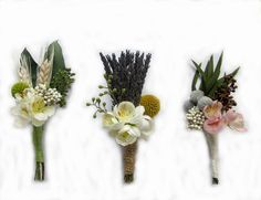 "Dried Flowers Boutonniere with Craspedia -Goomsman - Gooms Bestman ""Your Choice"" on each. MADE TO ORDER! by naturelview on Etsy"