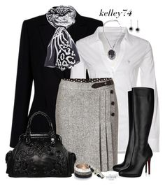 Skirt & Boots by kelley74 on Polyvore featuring polyvore, fashion, style, GUESS, Steffen Schraut, Christian Louboutin, Isabella Fiore, Paul Smith, 1928, Roberto Cavalli and clothing