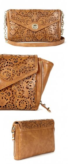 Laser Cut Leather Clutch, $60.00 #solesociety #details