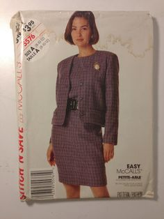 Misses Unlined Jacket and Dress McCalls Vintage by SplashOfLuv