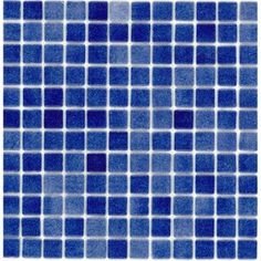 Elida Ceramica Recycled Non Skid Deep Blue Glass Mosaic Square Indoor/Outdoor Wall Tile (Common: x Actual: x Mosaic Glass, Mosaic Tiles, Wall Tiles, Stained Glass, Mosaics, Outdoor Walls, Indoor Outdoor, Bathroom Accents, Recycled Glass
