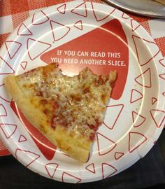 This plate is the only thing which is allowed to tell me how to live my life