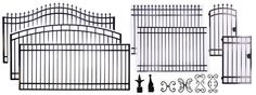 Wrought Iron Electronic Driveway Gates, Gate Openers, Access Control, Entrance Gates, Steel Aluminum Fencing, Garden Gates, Automatic Gates,...