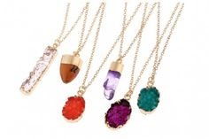 Crystal Necklaces to match any outfit.