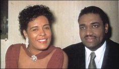 Color photo of Billie Holiday and husband Louis McKay Billie Holiday, Louis Mckay, Lady Sings The Blues, Vintage Black Glamour, Old Hollywood Glam, Black Celebrities, Celebs, Famous Black, Miles Davis