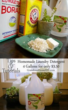 Homemade laundry detergent saving us for $700 per year. DIY Make 4 gallons for only $3.50.