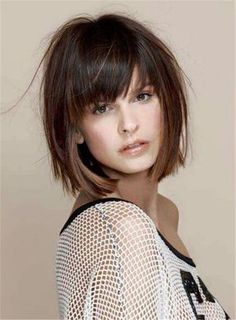 Best Short Haircuts trends and photos Short Haircuts with bangs Best Short Haircuts trends and photos - Hair Styles Bob Haircut With Bangs, Bob Hairstyles With Bangs, Straight Hairstyles, Cool Hairstyles, Hairstyle Ideas, Curly Haircuts, Layered Hairstyles, Haircut Medium, Hairstyles 2018