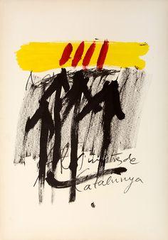 """Antoni Tapies (Barcelona, 1923-2012).  """"Als mestres de Catalunya"""" 1974.  Lithograph published by Sala Gaspar #catalonia"""