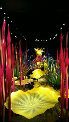 Chihuly Gardens, Seattle, Washington. This makes me want to visit Tacoma/Seattle.