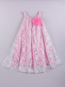 Loving this Mia Belle Baby White & Pink Lace Overlay Swing Dress - Toddler & Girls on Toddler Girl Dresses, Little Girl Dresses, Toddler Outfits, Kids Outfits, Girls Dresses, Flower Girl Dresses, Toddler Girls, Fashion Kids, Baby Girl Fashion
