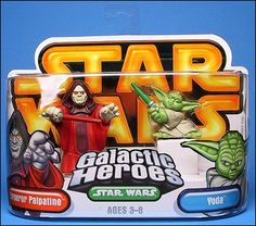 Star Wars: Galactic Heroes Emperor Palpatine and Yoda by Hasbro